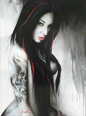 Tattoo Painting - 'subliminal II' by Christian Chapman Art