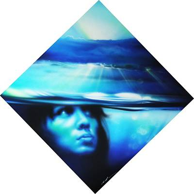 Portrait - 'submersion' Print by Christian Chapman Art