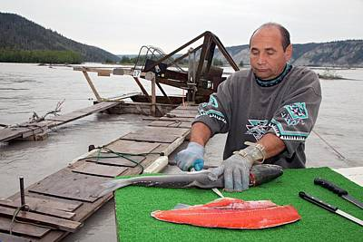 Salmon River Photograph - Subsistence Fishing In Alaska by Jim West
