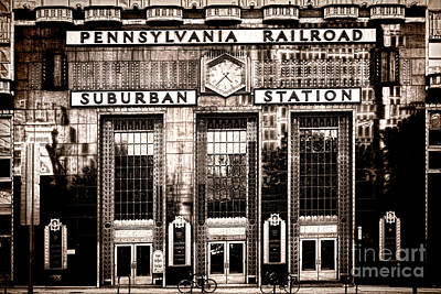 City Center Photograph - Suburban Station by Olivier Le Queinec