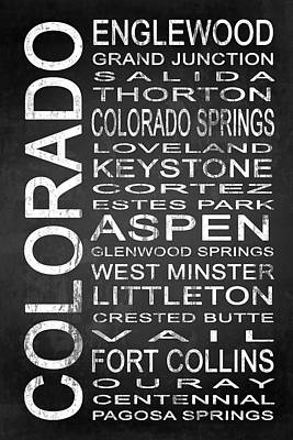 Subway Colorado State 2 Print by Melissa Smith