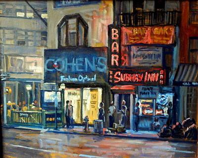Urban Subway Painting - Subway Inn New York City Nyc by Thor Wickstrom
