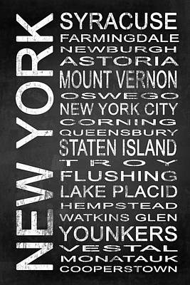 Subway New York State 2 Print by Melissa Smith