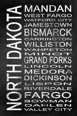 Subway North Dakota State 1 Print by Melissa Smith
