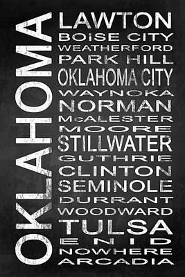 Typography Digital Art - Subway Oklahoma State 1 by Melissa Smith