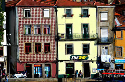 Subway - Porto Print by Mary Machare