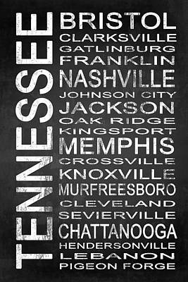 Subway Tennessee State 1 Print by Melissa Smith