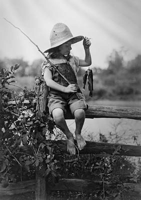 Tomboy Photograph - Successful Day Of Fishing  1919 by Daniel Hagerman