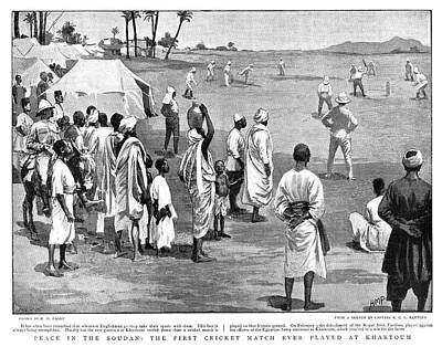 Cricket Drawing - Sudan Cricket, 1899 by Granger