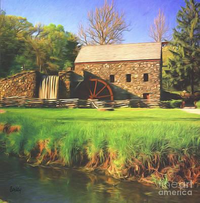 Sudbury Grist Mill Print by Steve Bailey