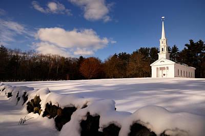 Sudbury Martha-mary Chapel Winter Covering Print by Mark Valentine