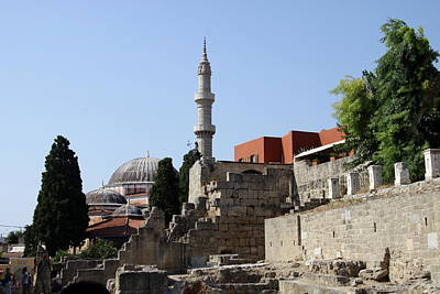 Sueleyman Pascha Mosque - Rhodos City Print by Christiane Schulze Art And Photography
