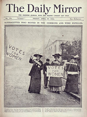 Of Woman Photograph - Suffragettes by British Library
