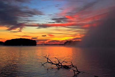 Greensboro Photograph - Sugar Creek Sunrise As The Fog Rolls In by Reid Callaway