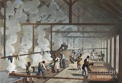 Sugar Factory In Antigua, 1820s Print by British Library