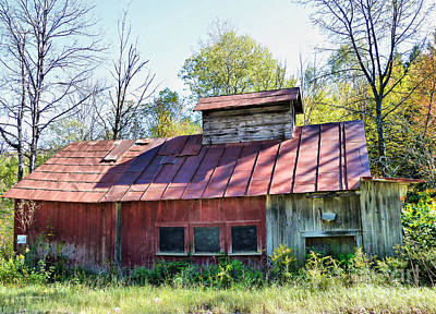 Maple Syrup Photograph - Sugar House Of Old by Deborah Benoit