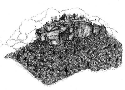 Sugar Loaf Mtn. Heber Springs Ar. Print by Lee Halbrook