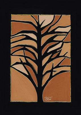 Nature Abstract Drawing - Sugar Maple by Barbara St Jean