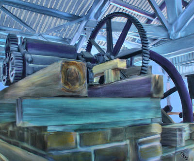 Ruins Mixed Media - Sugar Mill Gizmo by Deborah Boyd