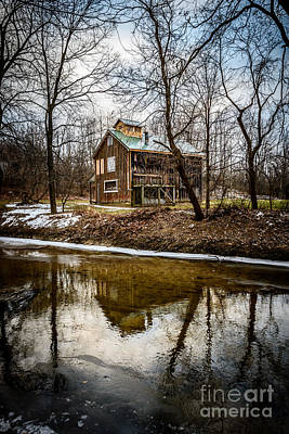 Sugar Shack In Deep River County Park Print by Paul Velgos