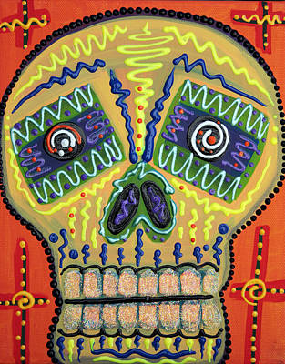 Blues Painting - Sugar Skull Delight by Laura Barbosa