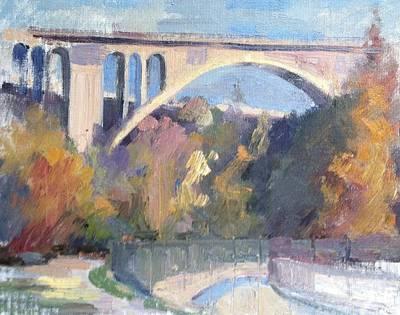 Suicide Bridge Winter Original by Karla Bartholomew