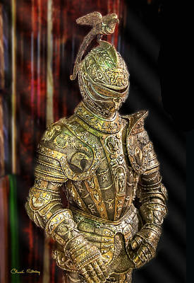 Suit Of Armor Print by Chuck Staley