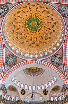 Suleimans  - Suleiman Mosque Interior 03 by Antony McAulay