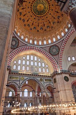 Suleimans  - Suleiman Mosque Interior 10 by Antony McAulay