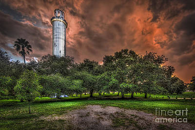 Dark Clouds Photograph - Sulfur Springs Tower by Marvin Spates