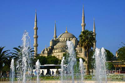 Sultanahmet Camii Blue Mosque Istanbul Turkey Print by Ralph A  Ledergerber-Photography