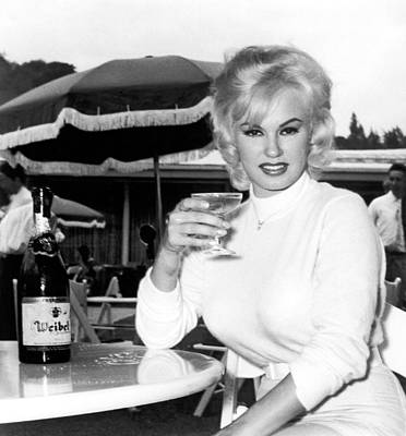 Of Wine Bottles Photograph - Sultry Mamie Van Doren by Underwood Archives