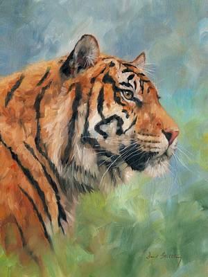 Sumatra Painting - Sumatran Tiger by David Stribbling