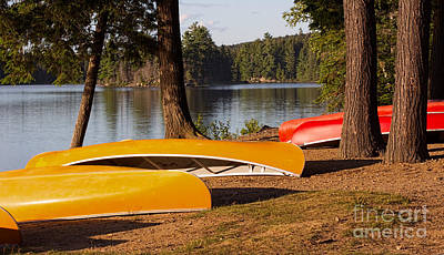 Canoe Photograph - Summer Adventure In The North Country by Barbara McMahon