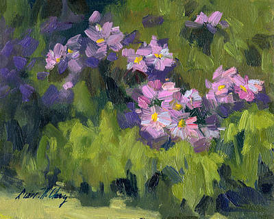 Asters Painting - Summer Asters by Diane McClary