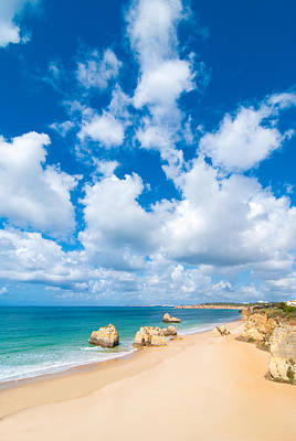 Summer Beach Algarve Portugal Print by Amanda Elwell