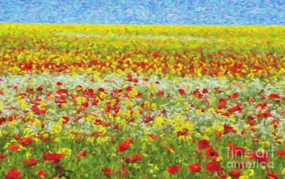 Multicolored Digital Art - Summer Breeze by Tim Gainey