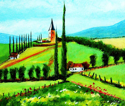 Chateau Mixed Media - Summer Chateau by Sean Roderick