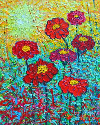 Summer Colorful Flowers - Sunrise Garden  Original by Ana Maria Edulescu