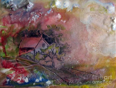Encaustic Painting - Summer Cottage by CJ  Rider