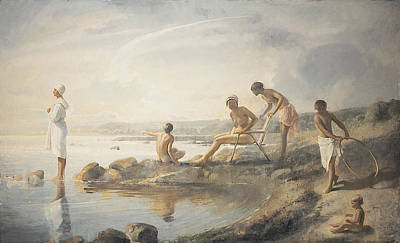 Bathing Painting - Summer Day by Odd Nerdrum