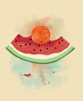 Watermelon Digital Art - Summer Delight by Neelanjana  Bandyopadhyay