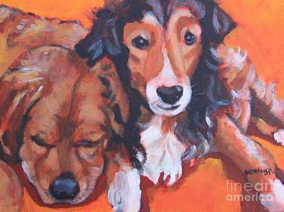 Summer Dogs Original by Jan Bennicoff
