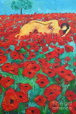 Poppies Field Painting - Summer Dream 2 by Ana Maria Edulescu