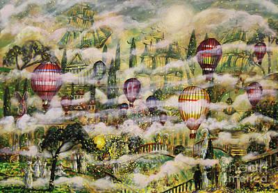 Night Angel Painting - Summer Eden by Dariusz Orszulik