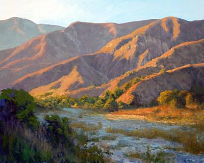 Canyon Painting - Summer Evening Eaton Canyon by Armand Cabrera