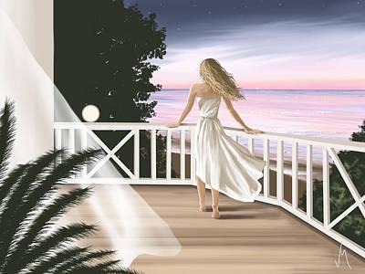 Seascape Digital Painting - Summer Evening by Veronica Minozzi