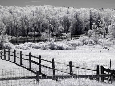 Black And White Photograph - Summer Farmland by Luke Moore