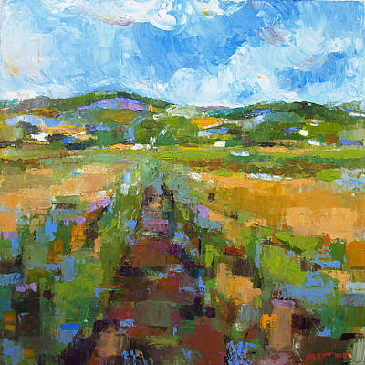 Becky Kim Artist Painting - Summer Field 1 by Becky Kim