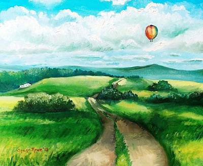 Maine Roads Painting - Summer Flight by Shana Rowe Jackson